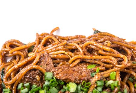 stir fried: Popular Malaysian stir fried noodles close up view