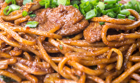 stir up: Popular Malaysian stir fried noodles close up view