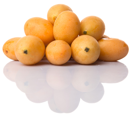 elliptic: Buah Kundang is commonly known in English as the marian plum, gandaria, and plum mango is a tropical fruit tree native to Malaysia and Southeast Asia