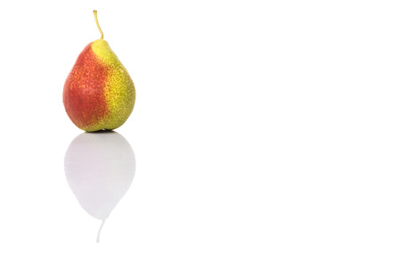 bell shaped: South African forelle pear fruit over white background