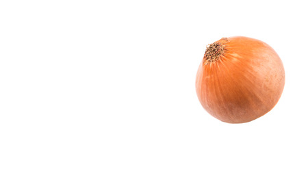 yellowrn: Dutch yellow onions over white background Stock Photo