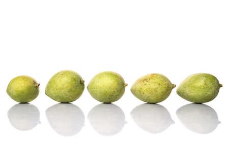 whitern: Green mango over white background Stock Photo