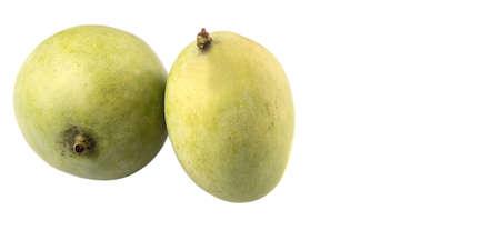 Green mango over white background Stock Photo