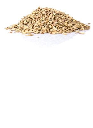 cumin: Cumin seed over white background