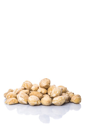 Candlenut seed over white background Banco de Imagens
