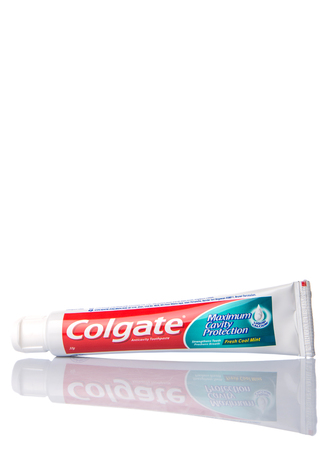 consumer products: PUTRAJAYA MALAYSIA  31TH MAY 2015. Colgate tooth paste. The ColgatePalmolive Company is an American multinational consumer products company producing household health care and personal products. Editorial