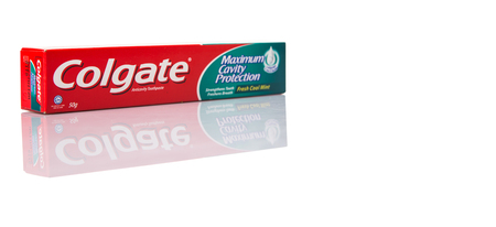 consumer products: PUTRAJAYA MALAYSIA  31TH MAY 2015. Colgate tooth paste. The ColgatePalmolive Company is an American multinational consumer products company producing household health care and personal products Editorial
