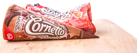 PUTRAJAYA MALAYSIA  JUN 22ND 2015. Unilevers Cornetto ice cream. Unilever is the worlds thirdlargest consumer goods multinational company and owns over 400 products.