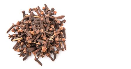 clove: Clove spices over white background