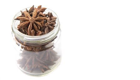 Star anise spice over white background Stock Photo