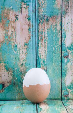 hard boiled: Hard boiled egg Stock Photo