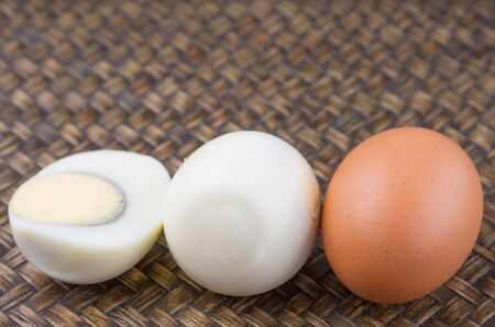 hard boiled: Hard boiled eggs Stock Photo