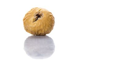 fig: Dried fig over white background