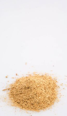 repellant: Dried lemongrass powder over white background