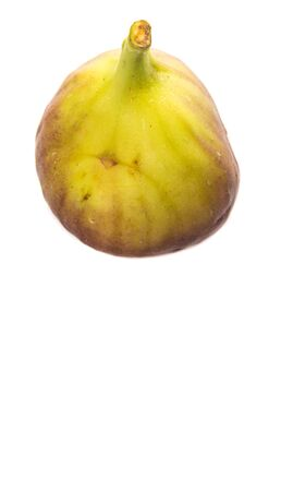 sweet segments: Fig fruits over white background