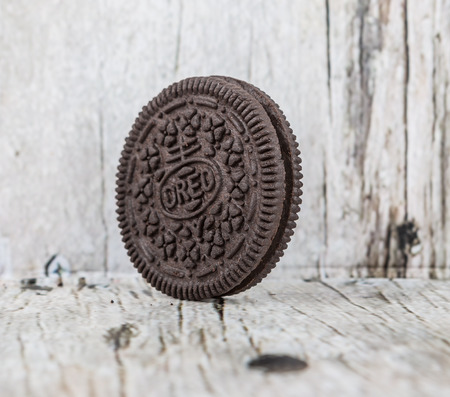 TOKYO, JAPAN - OCTOBER 11TH 2015. Oreo is a sandwich cookie with a sweet cream filling by Nabisco Division of Mondelez International and is the best selling cookie in the United States.