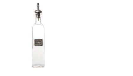 acetic acid: White vinegar over white background