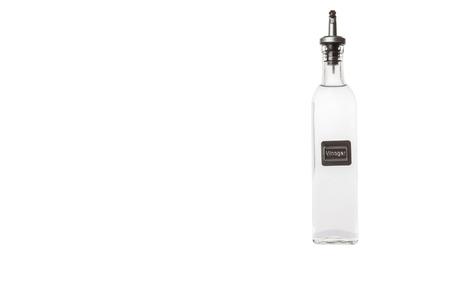 acetic: White vinegar over white background