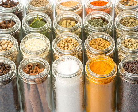 Dried spices and herbs variety Foto de archivo