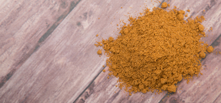 masala: Garam masala or mix spices over wooden background