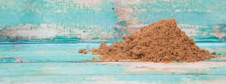 garam: Garam masala or mix spices over wooden background