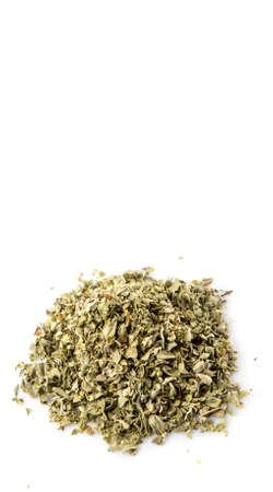 marjoram: Marjoram herbs over white background Stock Photo