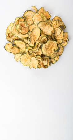 courgette: Dried zucchini or courgette  over white background
