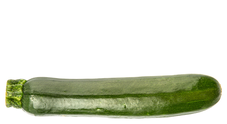 zucchini vegetable: Green zucchini vegetable over white background Stock Photo
