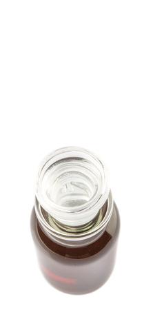 vial: Maple vinegar in glass vial