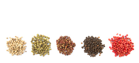 peppercorn: Mix peppercorn variety over white background