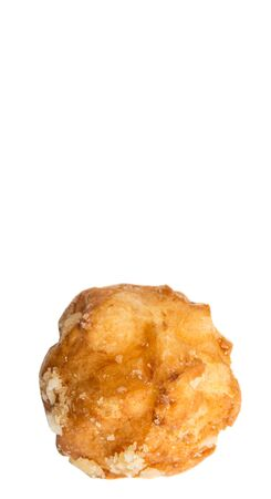 choux: Choux pastry sprinkled with sugar over white background