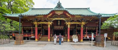 shinto: NEZU, TOKYO - MAY 14TH, 2016. Nezu Shrine or Nezu Jinja is a traditional and historical Shinto shrine. Shinto is the indigenous faith of the Japanese people.