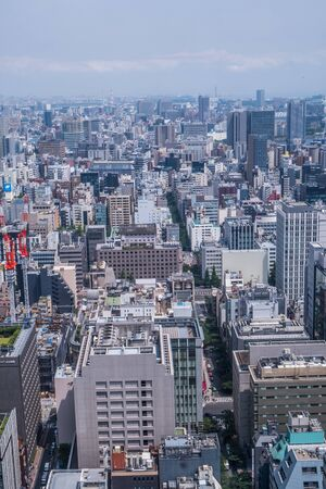developement: TOKYO, JAPAN - MAY 30TH, 2016. View of Tokyo buildings and skyline. Editorial