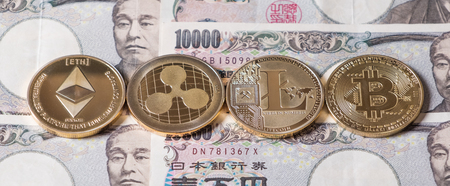 Popular cryptocurrency on Japanese Yen bank notes