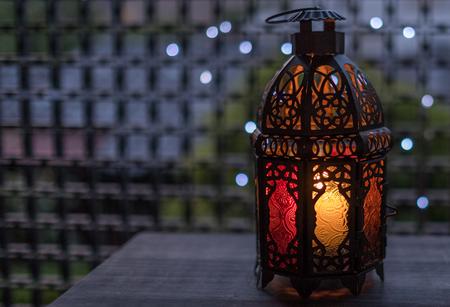 Eid or Ramadhan lantern with led lights bokeh