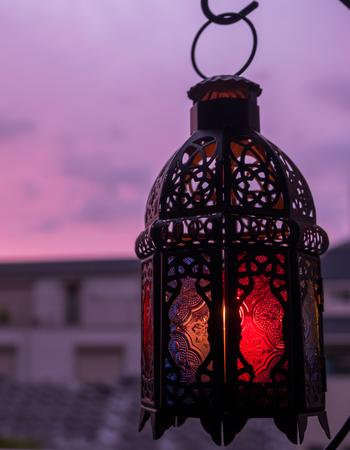 Ramadhan or Eid lantern in at dawn.