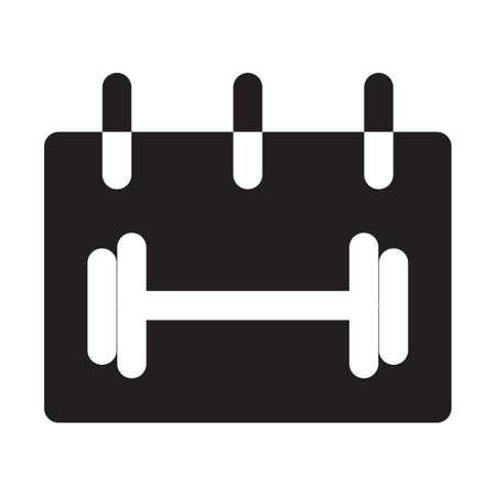 calendar gym icon solid style