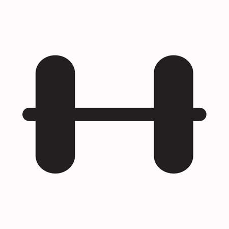 Dumbbell graphic icon. Dumbbell sign isolated on white background. Vector illustration Ilustrace