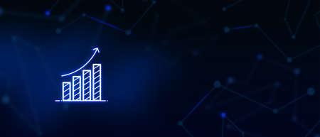 Statistics Graph, Analysis Finance, Performance, market research, Financial Business, stock market background