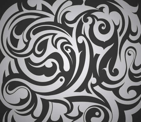 celtic design: Decorative abstraction with floral elements