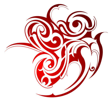 Tribal art tattoo isolated on white Vector