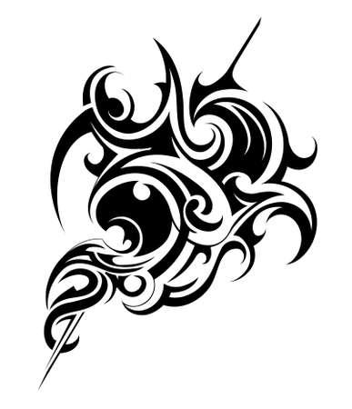 Decoratieve vorm die in tribale kunst-stijl Stock Illustratie