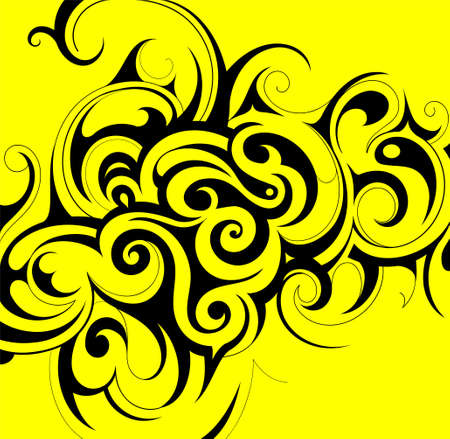 Decorative ornament in tribal art style Vector