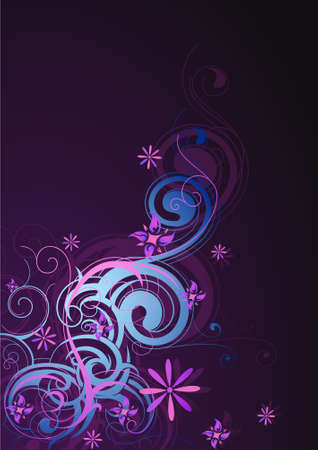 Abstraction with floral element shapes Vector