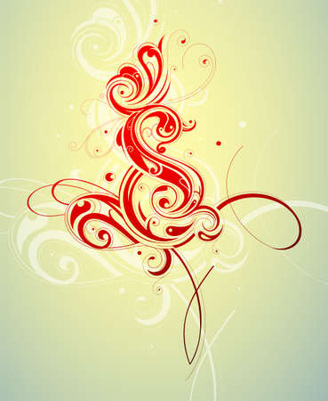 Decorative artwork with creative design elements Vector