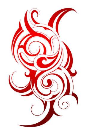 tribali: Tatuaggio decorativo con elementi d'arte tribale