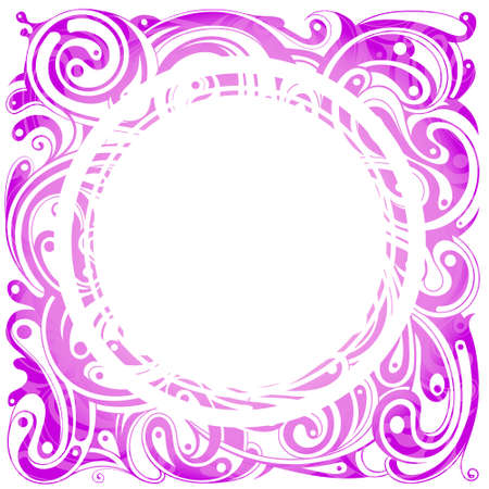 Decorative pink frame with empty area inside Stock Vector - 13858530
