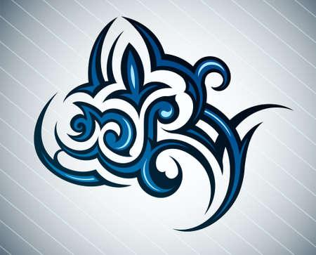 flower tattoo design: Creative flower tattoo in tribal art style