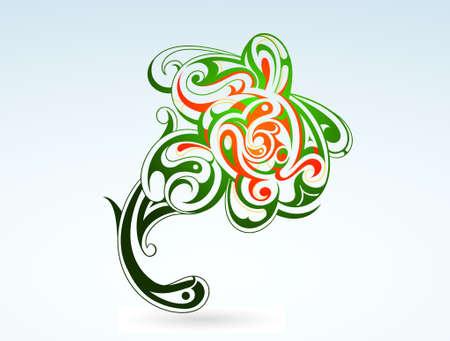 Creative flower tattoo in tribal art style Stock Vector - 14286409