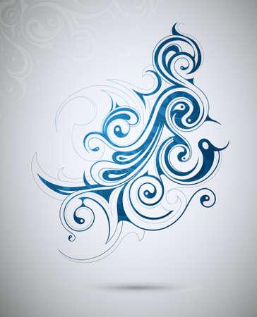 花の渦巻きから形をした創造的なデザイン要素